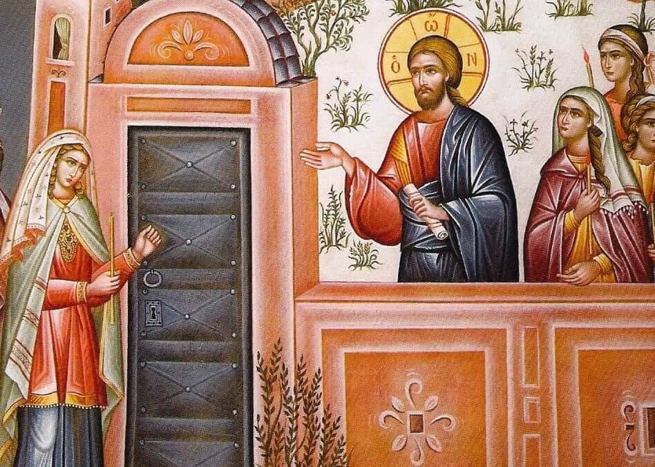 foolish virgins knocking at door